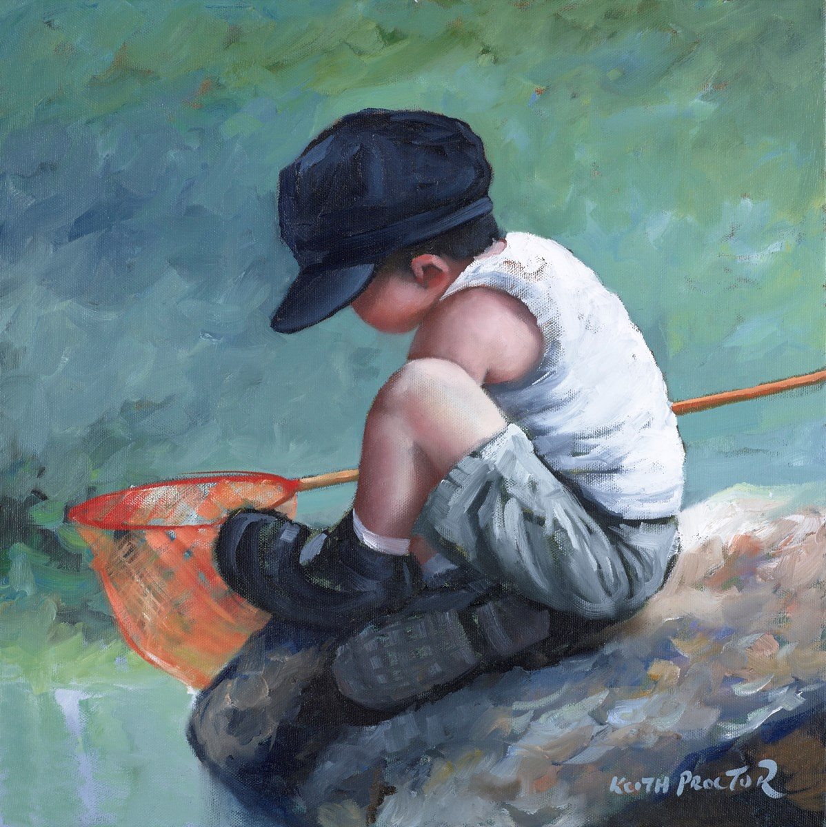 Gone Fishing II by keith proctor -  sized 20x20 inches. Available from Whitewall Galleries